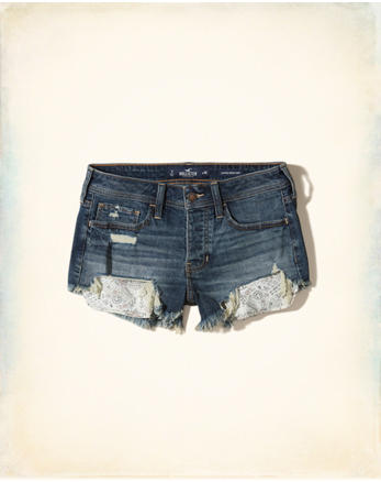 hol Low-Rise Denim Vintage Shorts