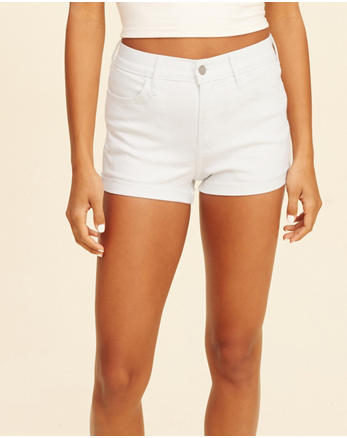 hol High-Rise Denim Short-Shorts