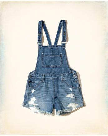 hol Denim Short Overalls