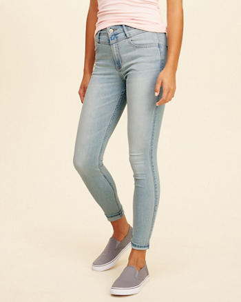 High-Rise Crop Super Skinny Jeans