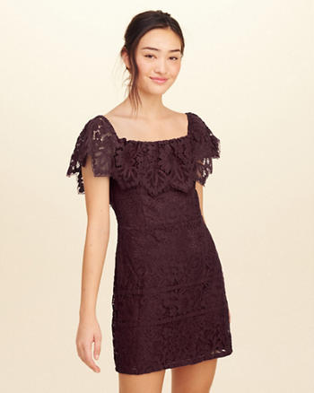 On Or Off The Shoulder Lace Dress