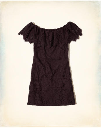 hol On Or Off The Shoulder Lace Dress