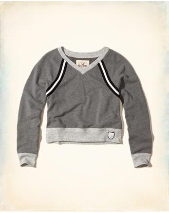 hol V-Neck Crop Sweatshirt
