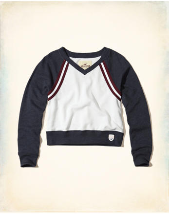 hol V-Neck Crop Sweatshirt