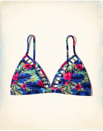 hol Strappy Triangle Bikini Top