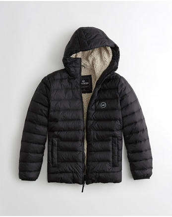 hol Sherpa-Lined Down Puffer Jacket