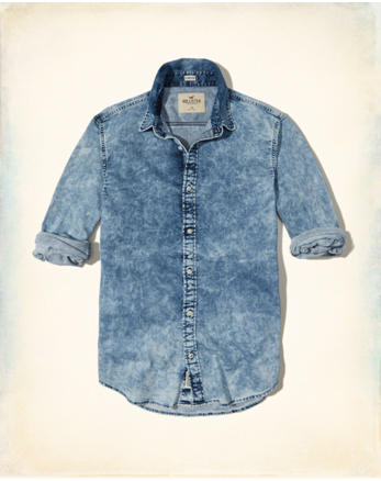 hol Bleach Wash Denim Shirt