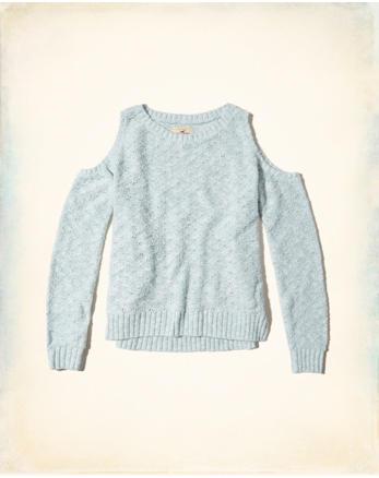 hol Cold Shoulder Sweater