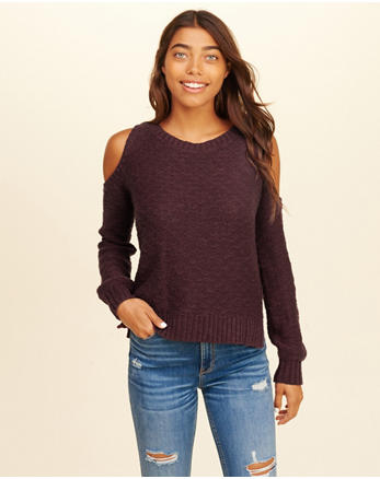 hol Cold Shoulder Sweater