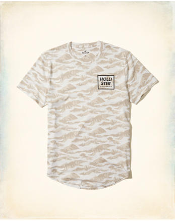 hol Patterned Graphic Tee