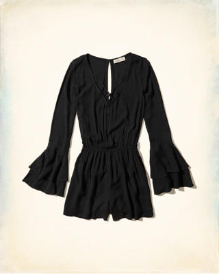 Strappy Ruffle-Sleeve Romper