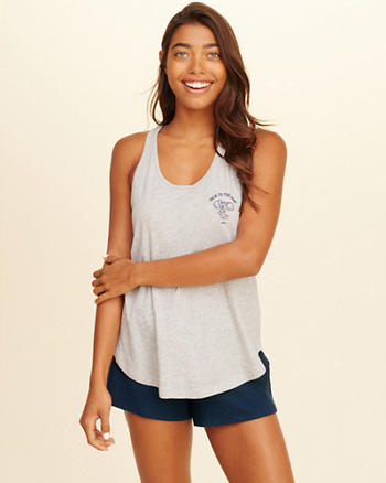 Racerback Graphic Tank