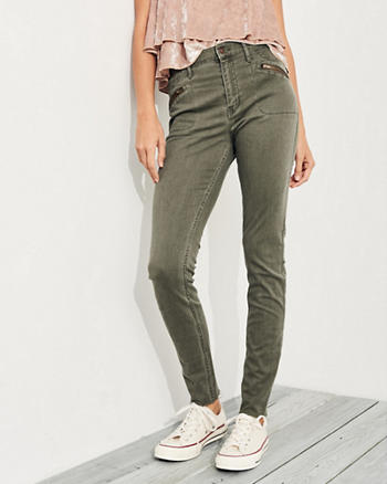 Stretch High-Rise Super Skinny Pants