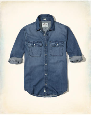 hol Stretch Denim Shirt