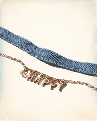 Denim Charm Layered Choker