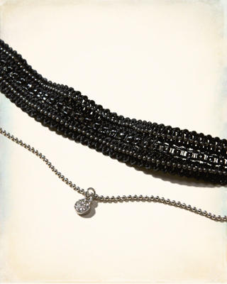 Crochet Charm Layered Choker