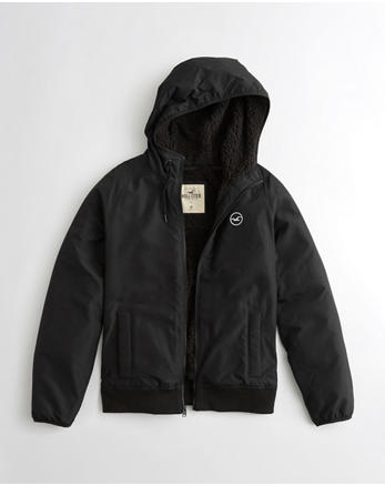 hol Hollister All-Weather Sherpa-Lined Hoodie