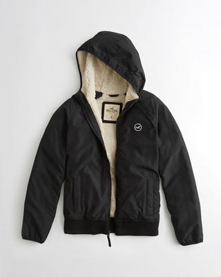 Hollister All-Weather Sherpa-Lined Hoodie