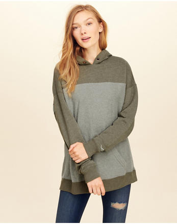 hol Colorblock Oversized Hoodie