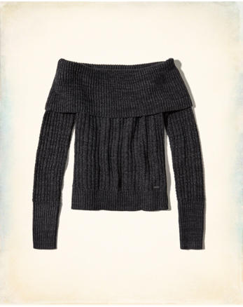 hol Ribbed Off-The-Shoulder Sweater