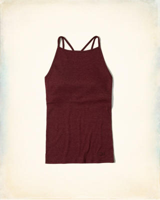 Strappy High-Neck Shelf Cami With Removable Pads