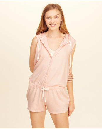 hol Button Front Sleep Romper