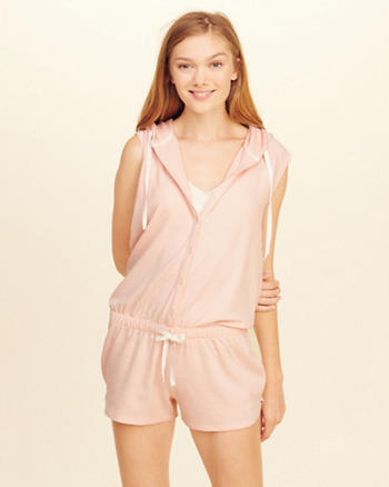 Button Front Sleep Romper