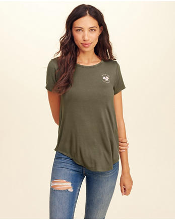 hol Cutout Back Graphic Tee