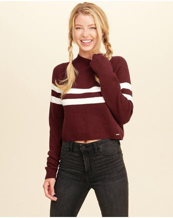 hol Mockneck Crop Sweater