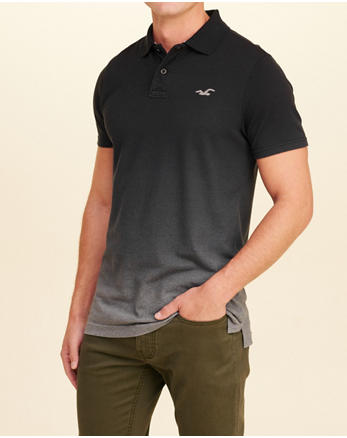 hol Stretch Pique Ombré Polo