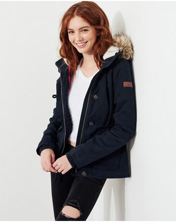 hol Stretch Flannel-Lined Anorak Jacket