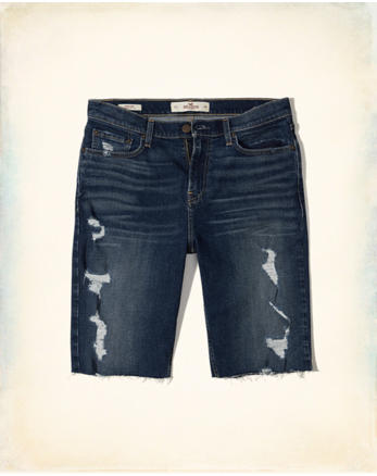 hol Hollister Cali Longboard Fit Denim Shorts