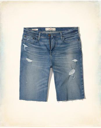 hol Hollister Cali Longboard Fit Denim Shorts