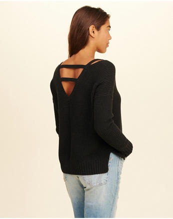 hol Strappy V-Neck Sweater
