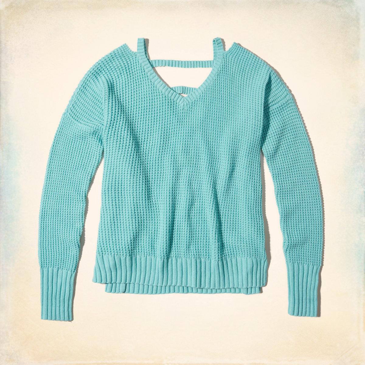 Strappy V-Neck Sweater