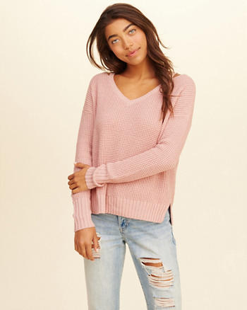 Strappy V-Neck Sweater