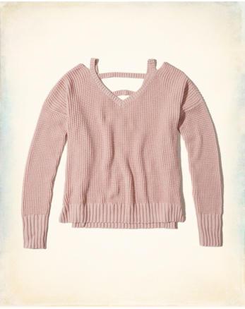 hol Strappy V-Neck Sweater