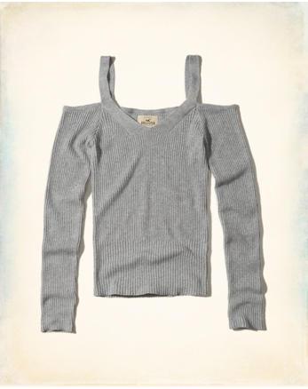 hol Slim Cold Shoulder Sweater