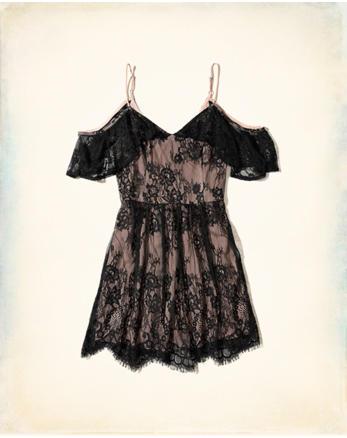 hol Cold Shoulder Lace Dress