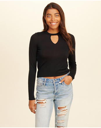 hol Cutout Crop Top