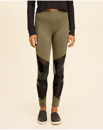 hol High-Rise Moto Jersey Leggings