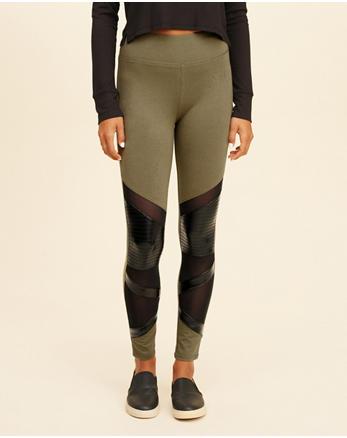 hol High-Rise Moto Jersey Leggings