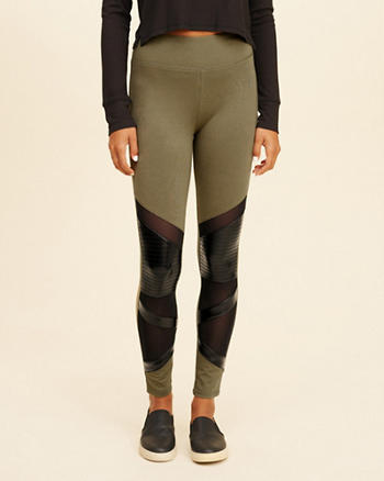 High-Rise Moto Jersey Leggings