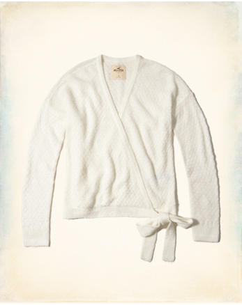 hol Wrap Front Sweater