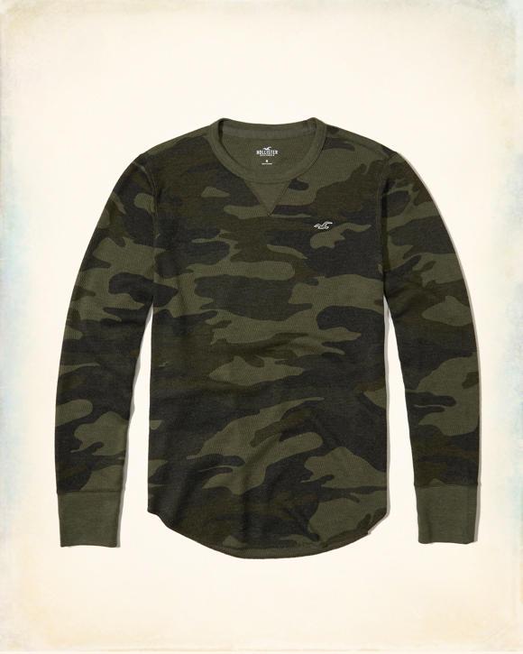 Guys Thermal Curved Hem T Shirt Guys Clearance Hollisterco Com