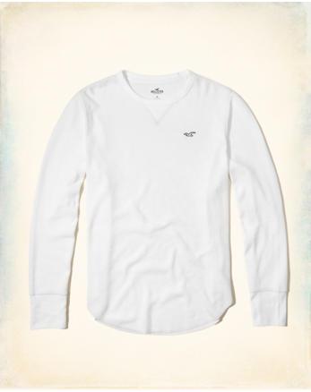 hol Waffle Curved Hem T-Shirt