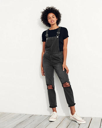 Boyfriend Denim Overalls