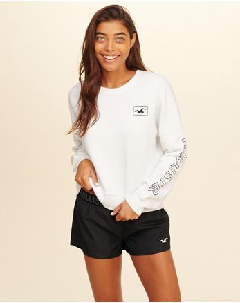 hol Logo Boxy Crewneck Sweatshirt