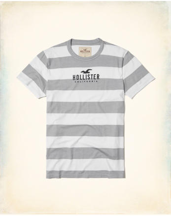 hol Stripe Graphic Tee