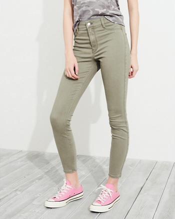 Advanced Stretch High-Rise Crop Jean Leggings